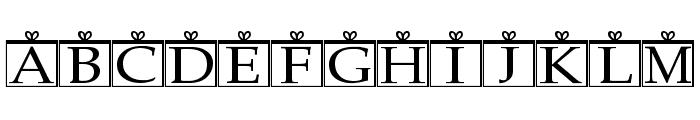 Christmas Ornaments Regular Font UPPERCASE