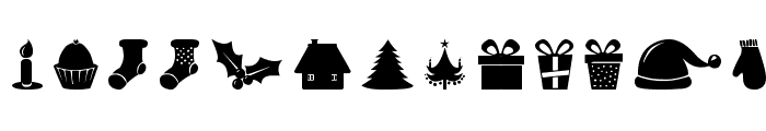Christmas Shapes Font LOWERCASE