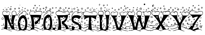 Christmas Snow Font UPPERCASE