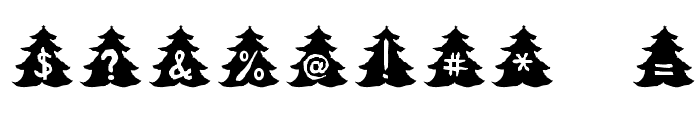 Christmas-Tree Font OTHER CHARS