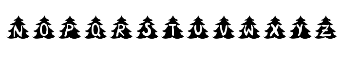Christmas-Tree Font UPPERCASE