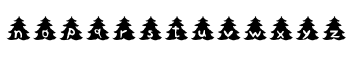 Christmas-Tree Font LOWERCASE