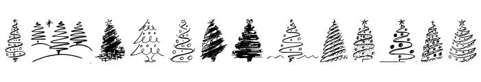 Christmas Trees Celebration Font LOWERCASE