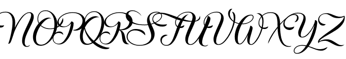 Christmas Wish Calligraphy Calligraphy Font UPPERCASE
