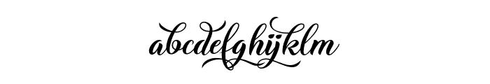 Christmas Wish Calligraphy Calligraphy Font LOWERCASE