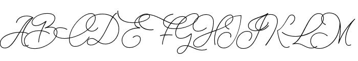 Christmas Wish monoline Font UPPERCASE
