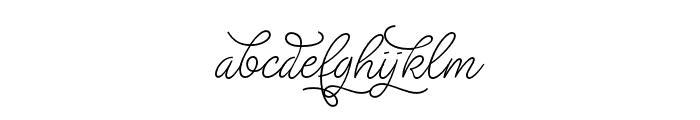 Christmas Wish monoline Font LOWERCASE