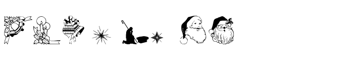 Christmas3 Font LOWERCASE