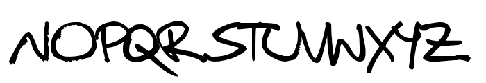 Christopherhand Font UPPERCASE