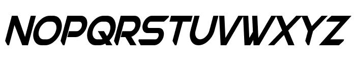 Chromia Condensed Bold Italic Font UPPERCASE