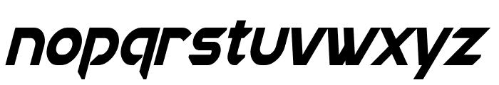 Chromia Condensed Bold Italic Font LOWERCASE