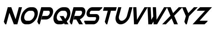 Chromia Supercap Condensed Bold Italic Font LOWERCASE