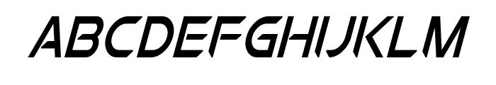 Chromia Supercap Condensed Italic Font LOWERCASE