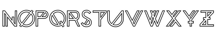 Chronic Outline Font UPPERCASE