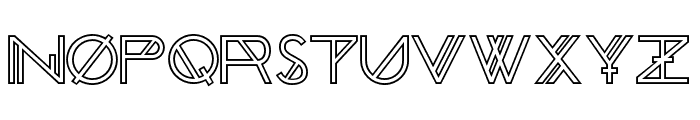 Chronic Outline Font LOWERCASE