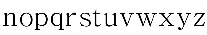 Chrysanthi Unicode Regular Font LOWERCASE