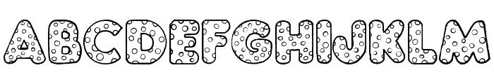 Chubby Dotty Font UPPERCASE