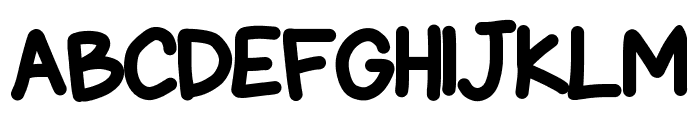 Chubby Gothic Font UPPERCASE