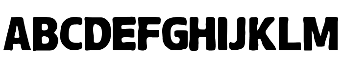 Chubby-Regular Font UPPERCASE