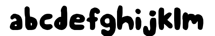 Chubby Thumbs Font LOWERCASE