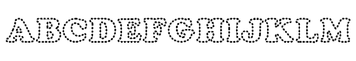 Chubby Trail Font UPPERCASE
