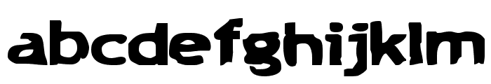 Chunk-a-Chip Font LOWERCASE
