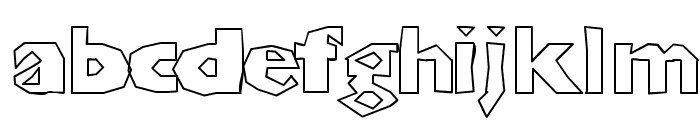 ChunkoBlockoOutlineHeavy Font LOWERCASE