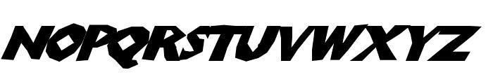 ChunkoBlockoSlanted Font UPPERCASE