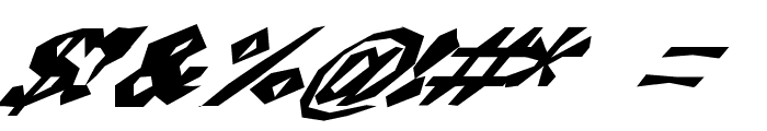 ChunkoBlockoSlantedWild Font OTHER CHARS