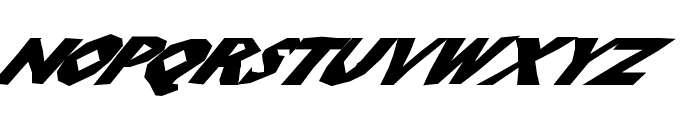 ChunkoBlockoSlantedWild Font UPPERCASE