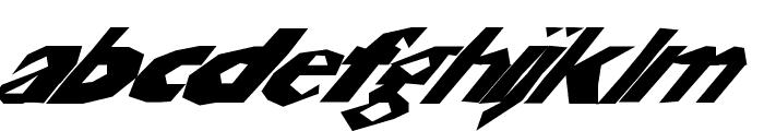 ChunkoBlockoSlantedWild Font LOWERCASE