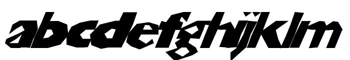 ChunkoBlockoSlanted Font LOWERCASE