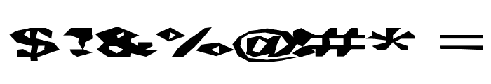 ChunkoBlockoSoopaDark Font OTHER CHARS