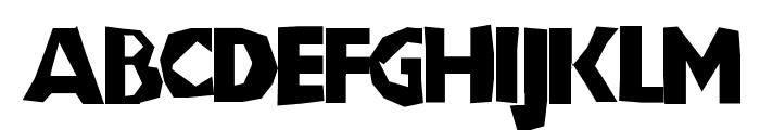 ChunkoBlockoThinner Font UPPERCASE