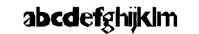 ChunkoBlockoThinner Font LOWERCASE