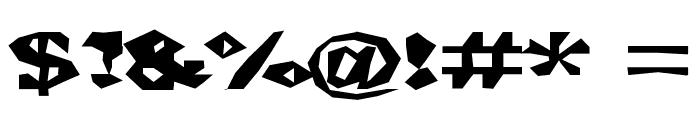 ChunkoBlockoXtraDark Font OTHER CHARS