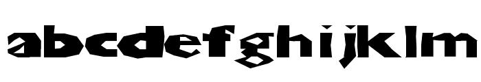 ChunkoBlockoXtraDark Font LOWERCASE