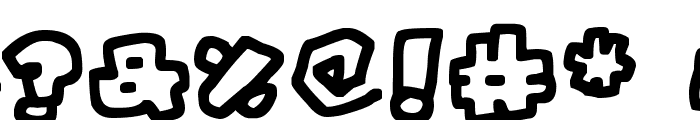 Chunky Boulder Outlines Font OTHER CHARS