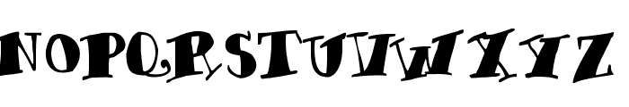 Chunky-Times Font UPPERCASE