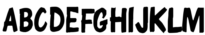ChunkyComix SemiBold Font UPPERCASE