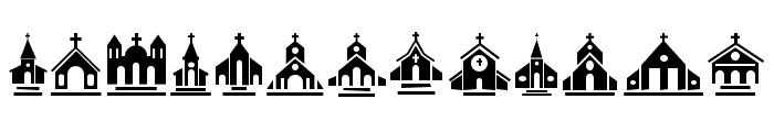 Churches Regular Font UPPERCASE