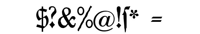 Chursaechsische Fraktur Font OTHER CHARS