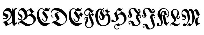 Chursaechsische Fraktur Font UPPERCASE