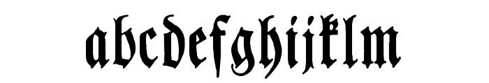 Chursaechsische Fraktur Font LOWERCASE