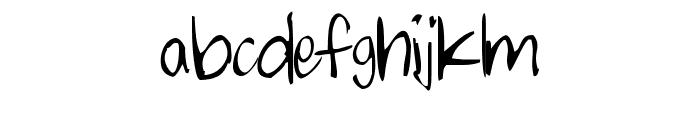 chalkie Font LOWERCASE