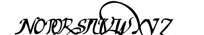 chancelaresca pw Font UPPERCASE