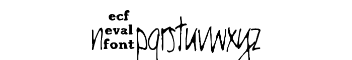 chester eval Font LOWERCASE