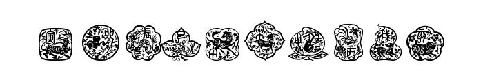 chinese zodiac tfb Font OTHER CHARS