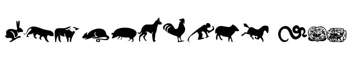 chinese zodiac tfb Font UPPERCASE