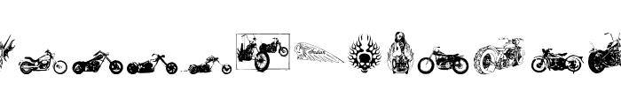 choppersforlife Font LOWERCASE